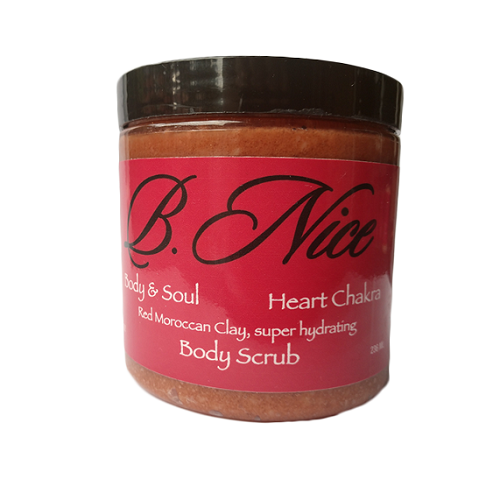 Body Scrub Red Moroccan Clay (Heart Chakra) Super Hydrating 236 ML