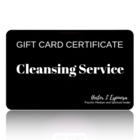 GIFTCARD CERTIFICATE cleansing service Hector L Espinosa Psychic Medium and Spiritual Healer