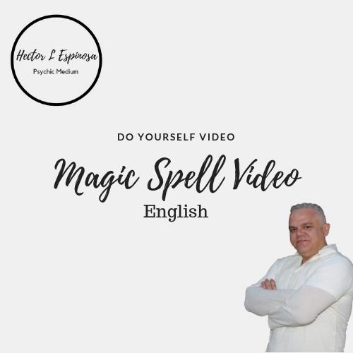 Magic Spell video 4 sale Hector L Espinosa Psychic Medium and spiritual Healer